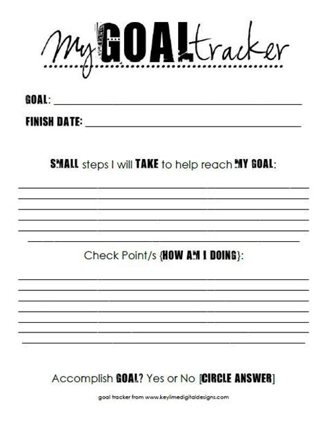 printable ar goal sheets tips for setting goals free printable goal tracker sheet