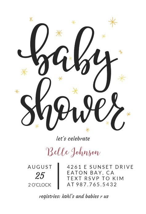 Baby Shower Text Template Hand Lettering Baby Shower Invitation Template Free Greetings Island