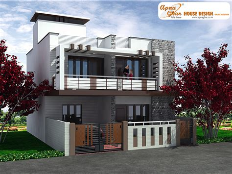 Duplex Home Designs | 3 bedrooms duplex house design in 117m2 9m x 13m this