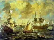 rbb Preußen-Chronik   Bild: Die Kurbrandenburgische Flotte ... K 1710