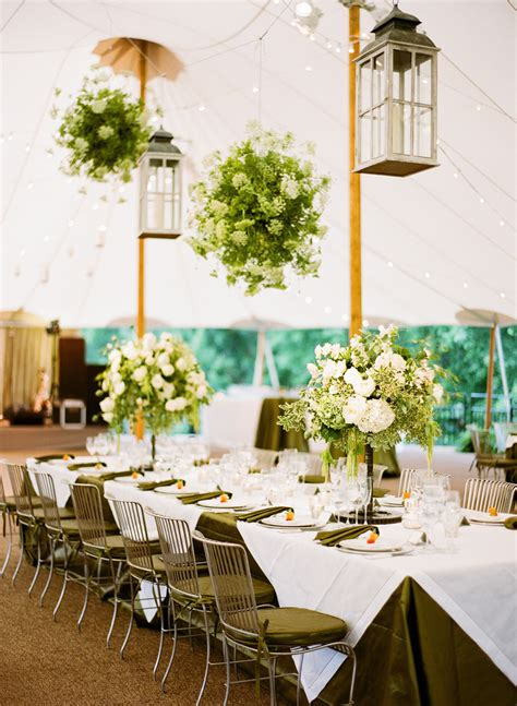 floral chandeliers  tent reception elizabeth anne