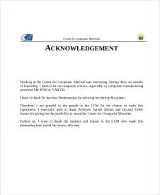 Acknowledgement Letter Sample For Project Report Acknowledgement For School Project Report Www Imgarcade