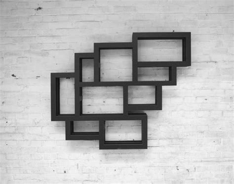 wall hanging shelves hanging shelf in rectangular frames cluster figure frames wall home building furniture and
