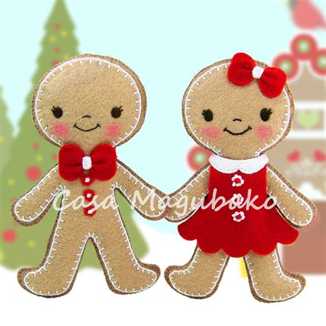 felt gingerbread pattern pdf pattern gingerbread ornament felt pattern boy girl