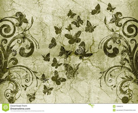 butterfly vintage style stock illustration image of