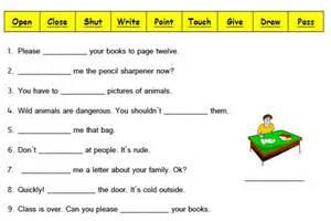 bossy verbs worksheet year 4 free teaching resources