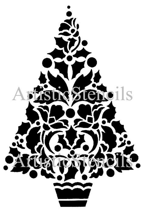 christmas tree 18 in stencil stencil tree