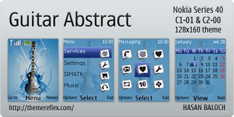 guitar themes for nokia c2 guitar abstract theme for nokia c1 01 c2 00 themereflex
