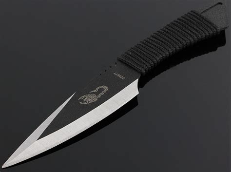 The Scorpion Fixed Blade Throwing Knife 225577 Black the scorpion fixed blade throwing knife 225577 black