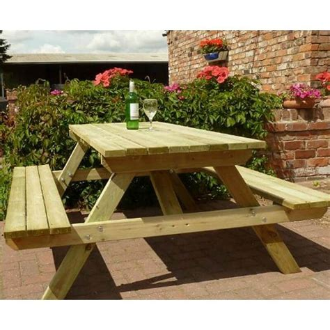 5 foot wooden picnic table 5ft wooden garden picnic table
