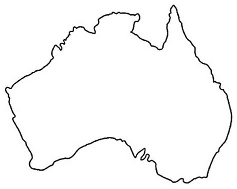 australian map coloring pages coloring pages