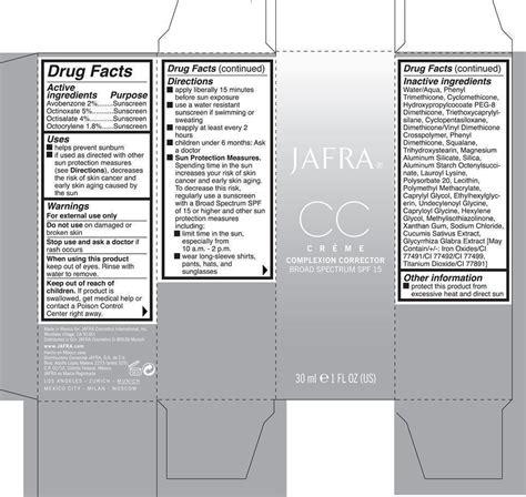Promo Jafra Cc Creme Complexion Corrector Spf 15 Jafra Cc cc complexion corrector broad spectrum spf 15