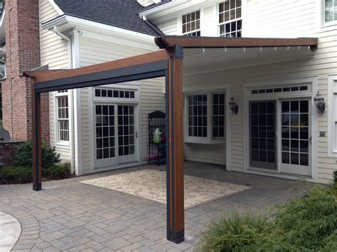 pergola with awning private residence landscape pool and patio application