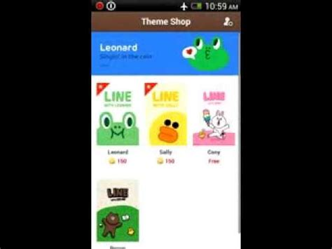 theme changer di line line theme changer for android youtube