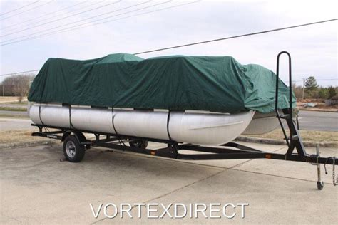 24 ft pontoon boat cover sell new vortex green 24 ft foot ultra pontoon boat cover