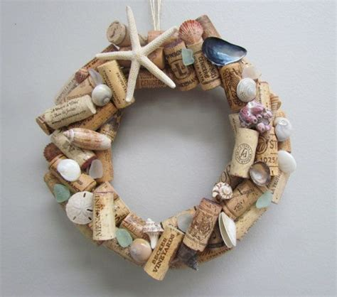 seashell and wine cork wreath glasses shells and the o jays