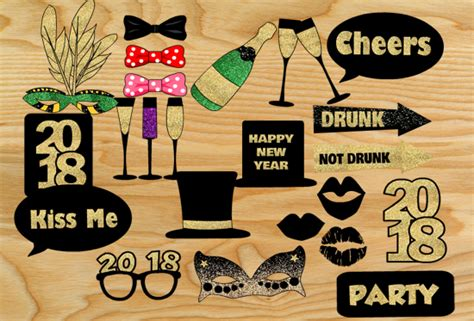 printable photo booth props new year 2018 free printable new year 2018 photo booth props