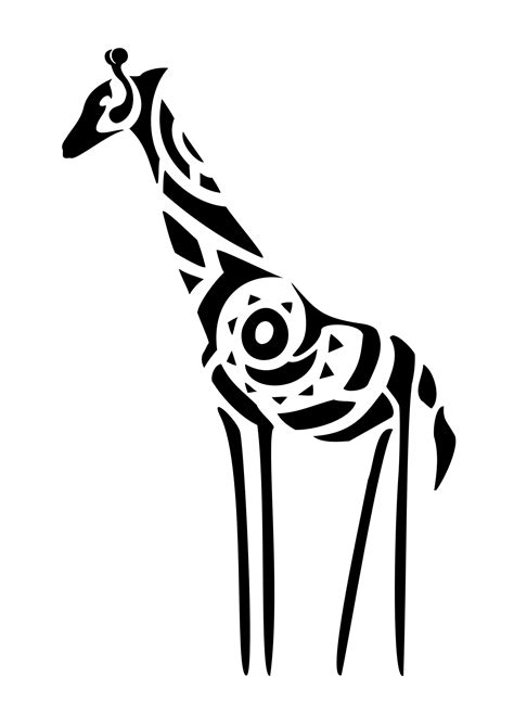 tribal pattern giraffe giraffe originality change of perspective view this photo
