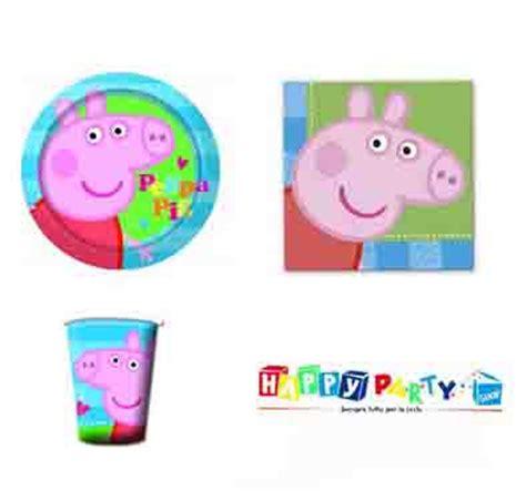 peppa pig piatti e bicchieri festa compleanno peppa pig coordinato tavola tema peppa