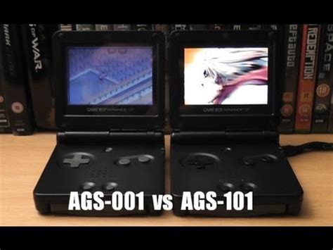 game boy advance model ags 101 game boy advance screen comparisons sp ags 101 vs ags