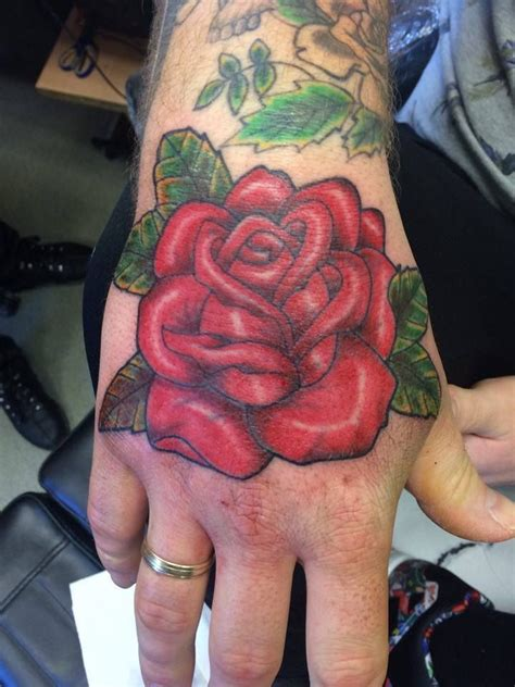 red rose tattoo for men school school