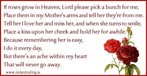 I miss my mom ? Funeral Poem Image copyright Ireland