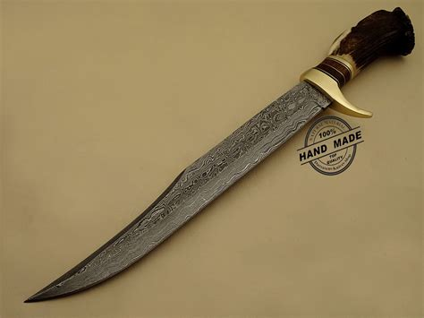 Best Handmade Knives - best damascus bowie knife custom handmade damascus steel