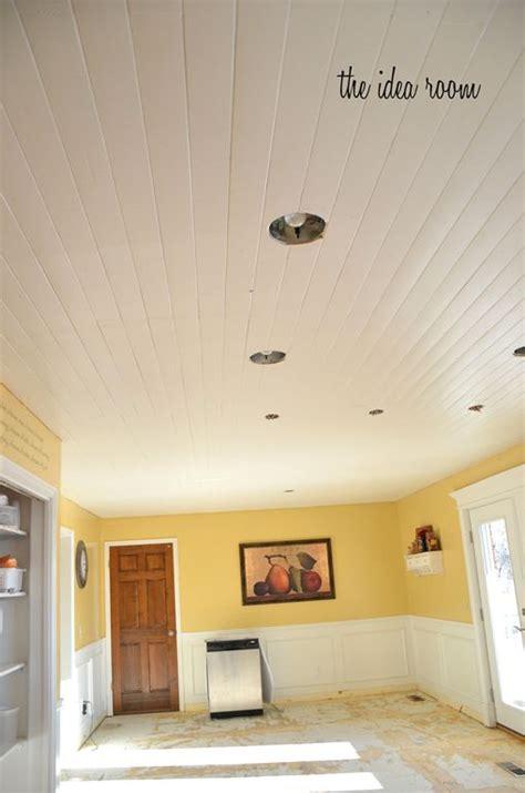 Plank Ceiling Diy by Diy Wood Planked Ceiling Diy