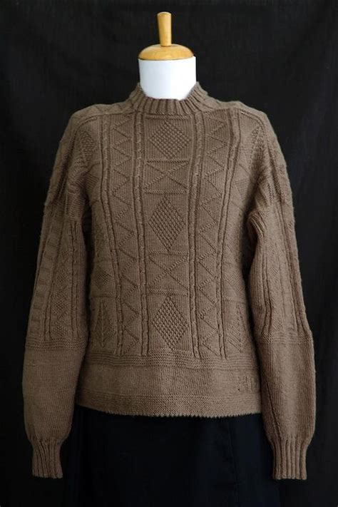 knitting pattern gansey sweater adding charm with the channel island cast on the craftsy