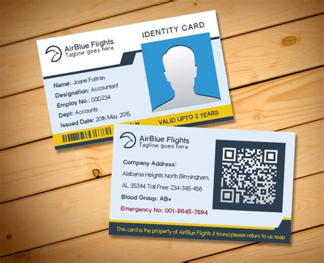 id card design eps company employee identity card design templates free