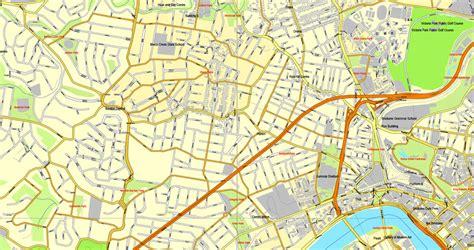printable map brisbane cbd brisbane australia printable vector street city plan map