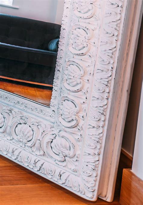 celeste extra large distressed white mirror furniture la