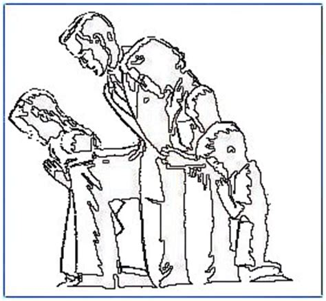 coloring pages family praying together the family that prays together print and color