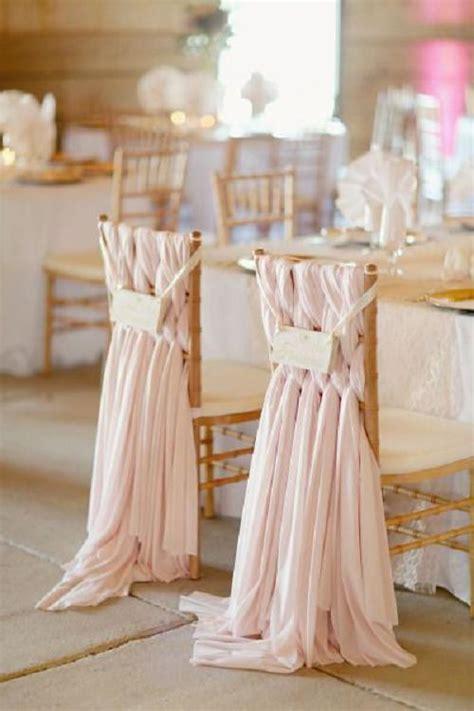 creative wedding chair decor  fabric  ribbons