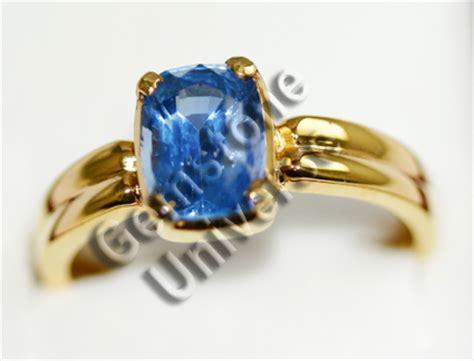 Blue Sapphire Ceylon Set In Ring blue sapphire neelam gem neelam blue