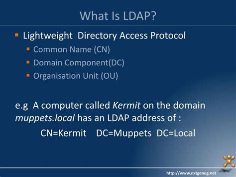 ldap tutorial powerpoint ppt a developer s guide to network admin powerpoint