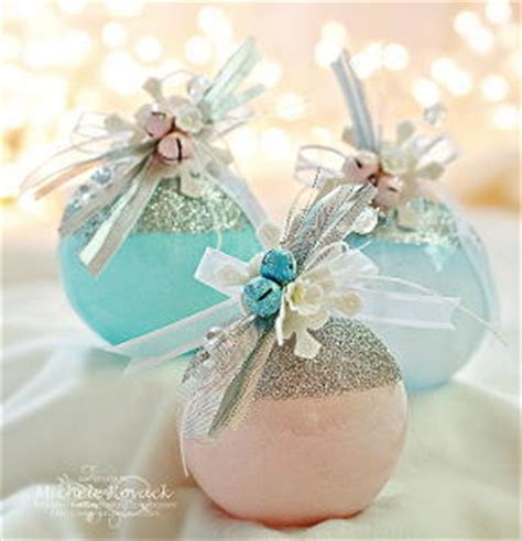 glitter topped christmas ornaments favecrafts com