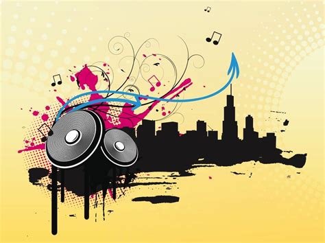 themes music com music city vector art graphics freevector com