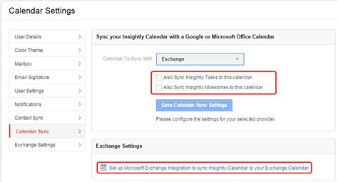 Sync Exchange Calendar With Syncing Insightly With Or Microsoft Exchange