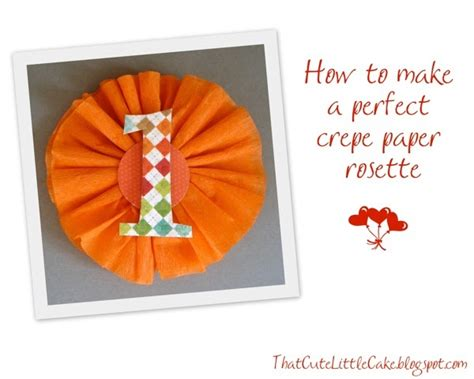 How To Make Crepe Paper Rosettes - that cake craft how to make a crepe