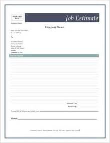 estimate template free free estimate forms microsoft word templates
