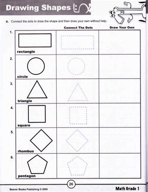 R Drawing Shapes by Math Grade 1