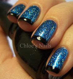 Jiuku Nail Black Glitter 62 nails inspiration for what do do with that robin s egg blue nail languishing in