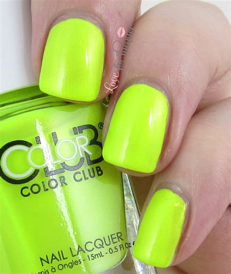 Not So Mellow Yellow by Color Club Poptastic Neon 2014 Collection Swatches
