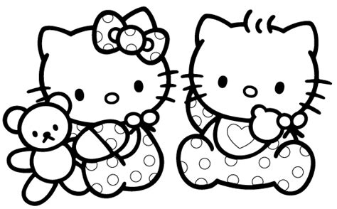 coloring pictures of hello kitty and her friends hello kitty and friends pictures coloring home