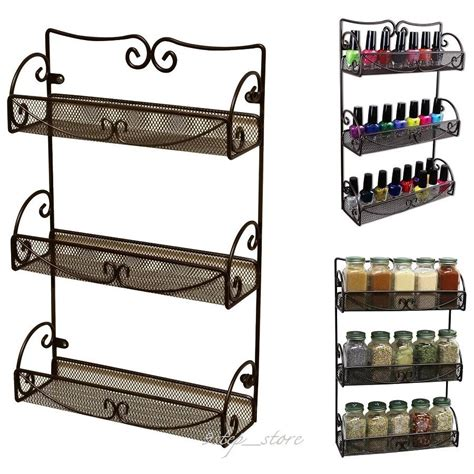 Spice Rack Cabinet Mount by Wall Mount Hanging Organizer Kitchen Shelf Spice Bottles