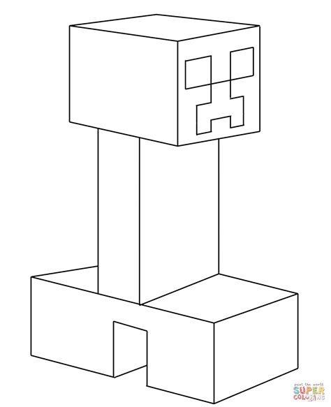 minecraft coloring pages monsters creeper from minecraft coloring page free printable