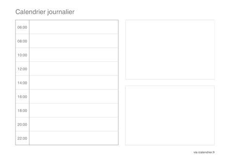 Calendrier Journalier Excel Modele Planning Journalier Ccmr