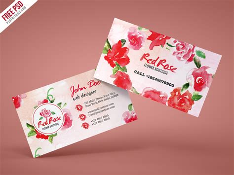 Free Boutique Business Card Templates by Flower Shop Business Card Free Psd Template By Psd