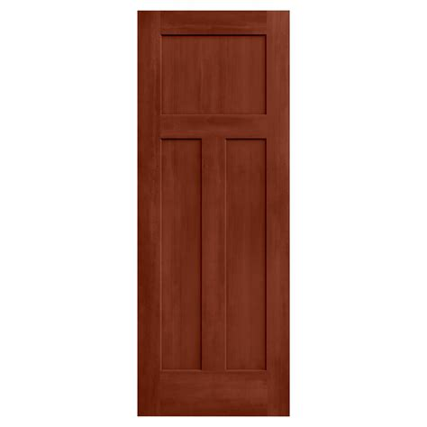 Interior Doors 30 X 80 Jeld Wen 30 In X 80 In Craftsman Amaretto Stain Solid Molded Composite Mdf Interior Door